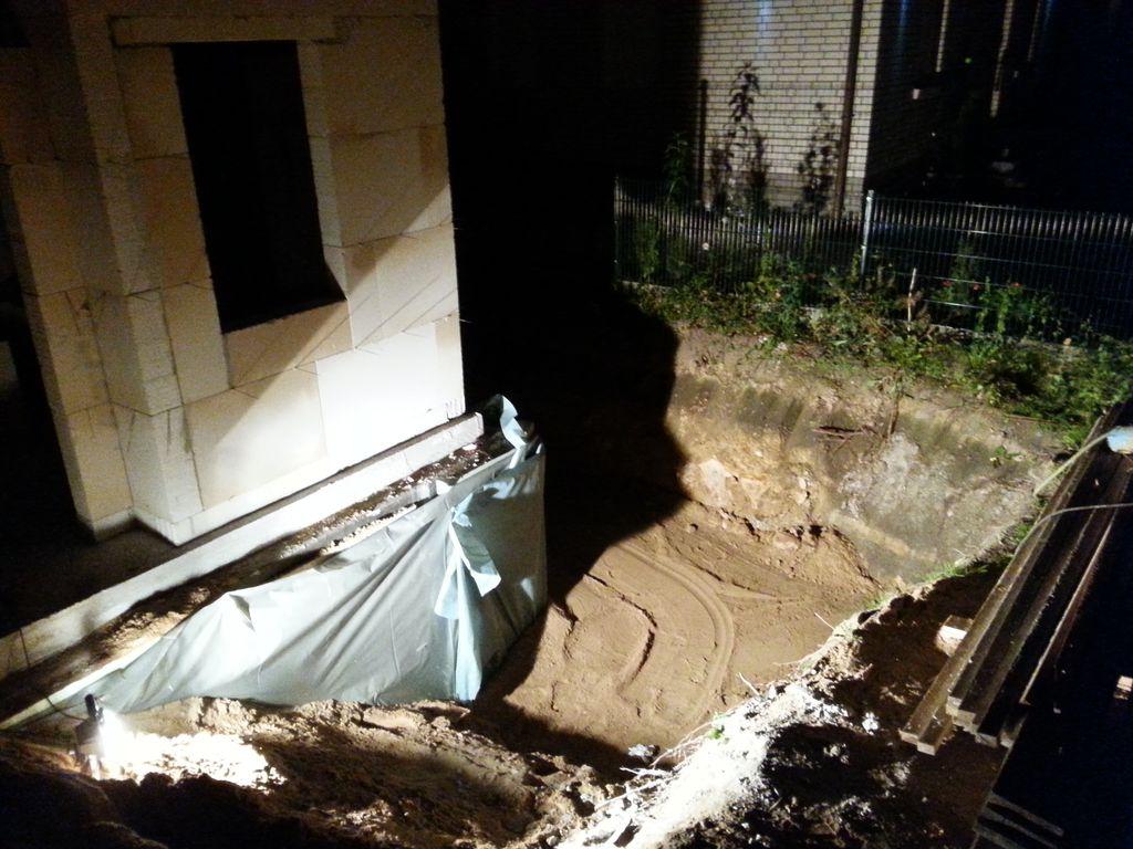 die letzte Ecke, in der jetzt der Drainageschacht begraben liegt