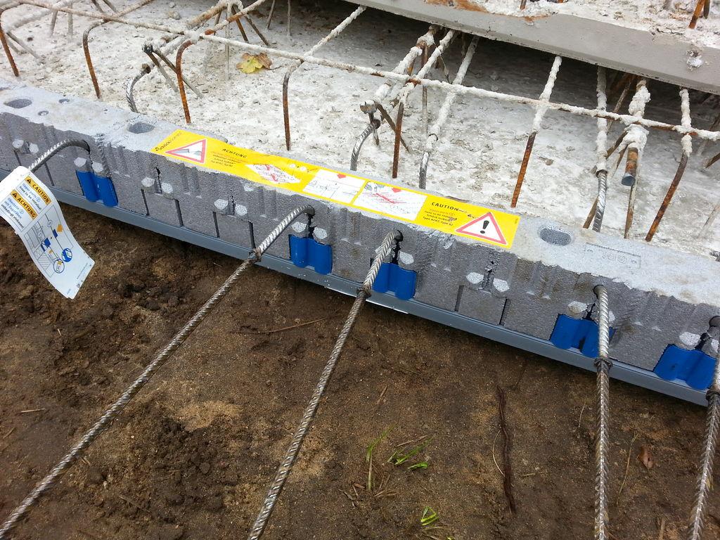 """Das """"Schöck-Element"""" verhindert Wärmebrücken zwischen Balkon und Betondecke"""