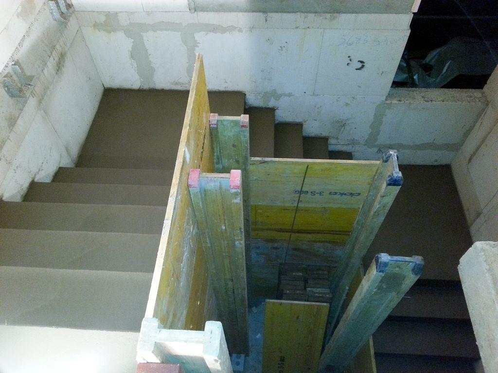 Treppenverlauf mit beiden Podesten