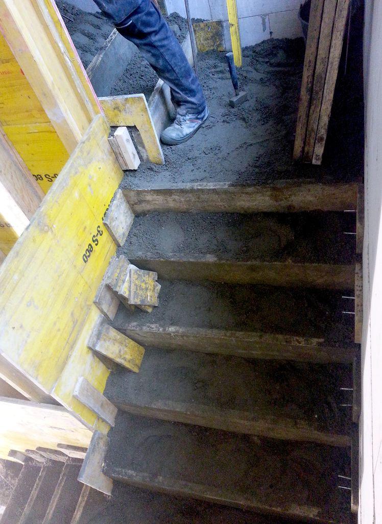 Ein Großteil des Betons ist verbaut